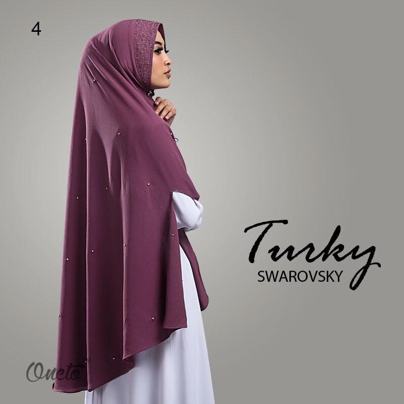 Khimar Turkey Swarosky by oneto ungu