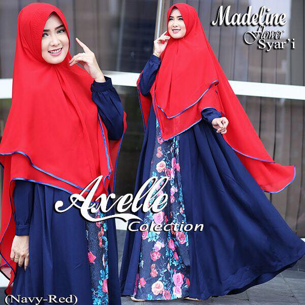 Madeline Flower syar'i by Anebelle collection merah
