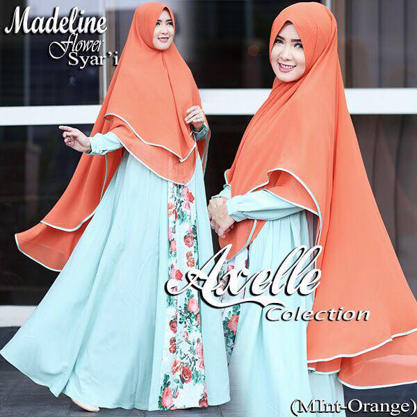 Madeline Flower syar'i by Anebelle collection orange
