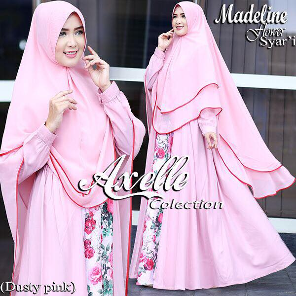 Madeline Flower syar'i by Anebelle collection pink