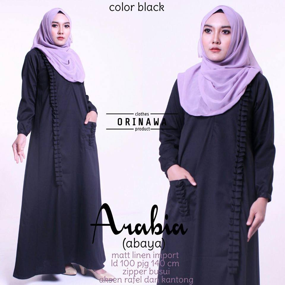 abaya arabiya by orinawa black