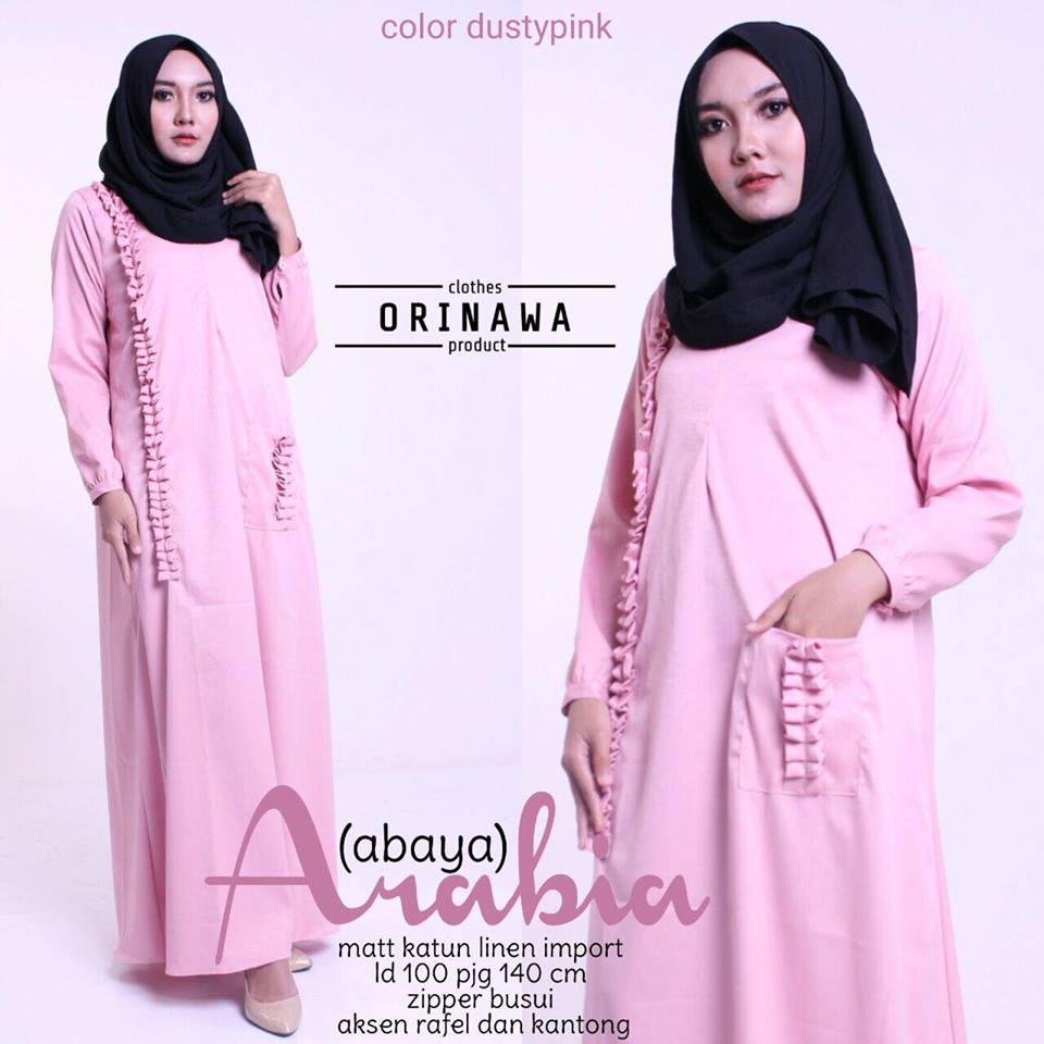 abaya arabiya by orinawa dustypink