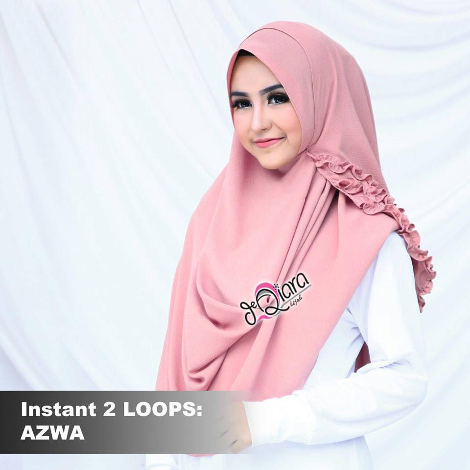 instant 2loops azwa by d'qiara pink