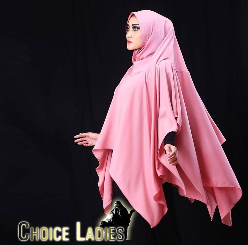 khimar sutera laser by choice ladies pink