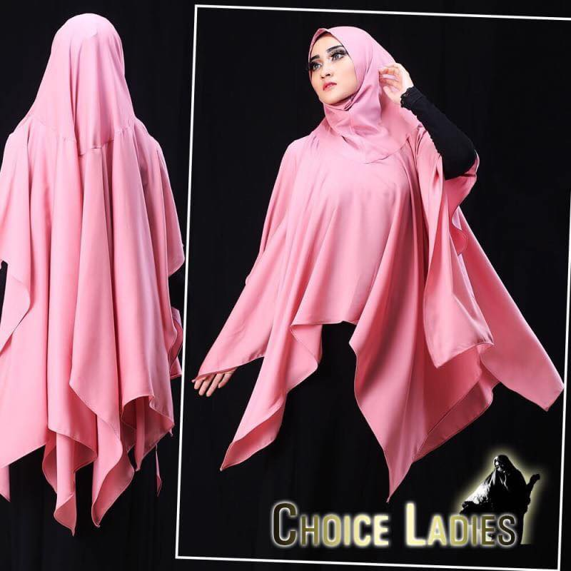 khimar sutera laser by choice ladies pink2