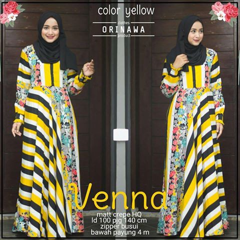 venna dress by orinawa yellow