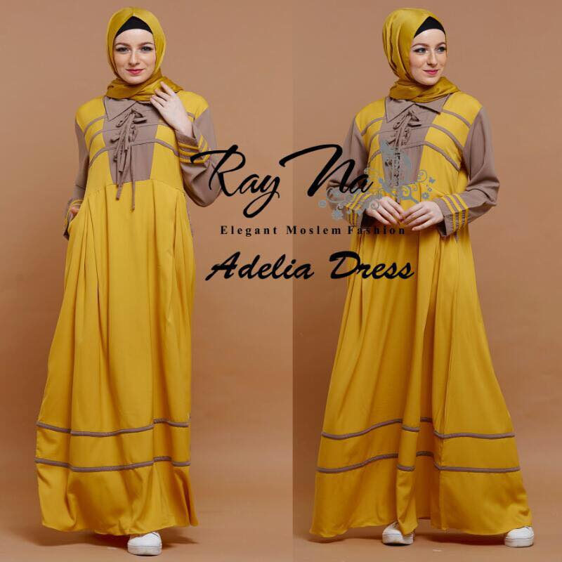 Adelia Dress by Ray na kuning