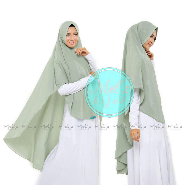 Khimar daily alya by melz sea green