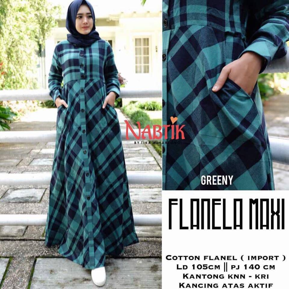 Flanela Maxi By Nabtik Greeny