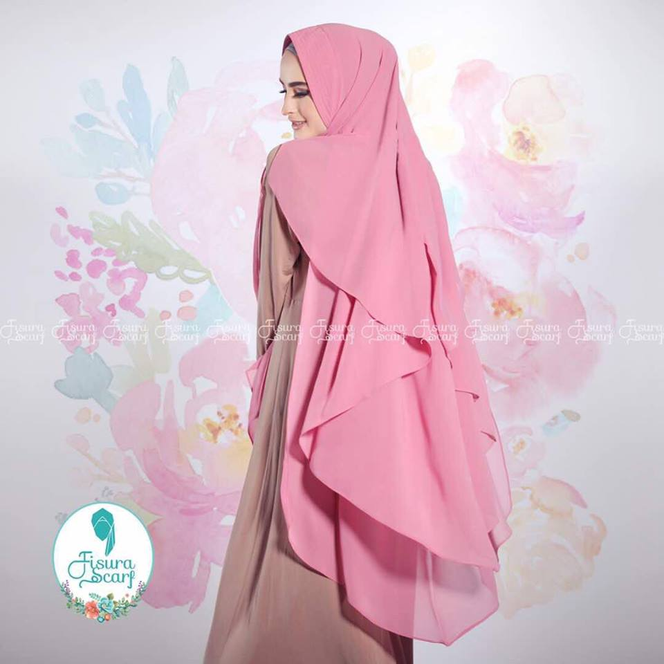 New Khimar Alona By Fisura Scarf Pink