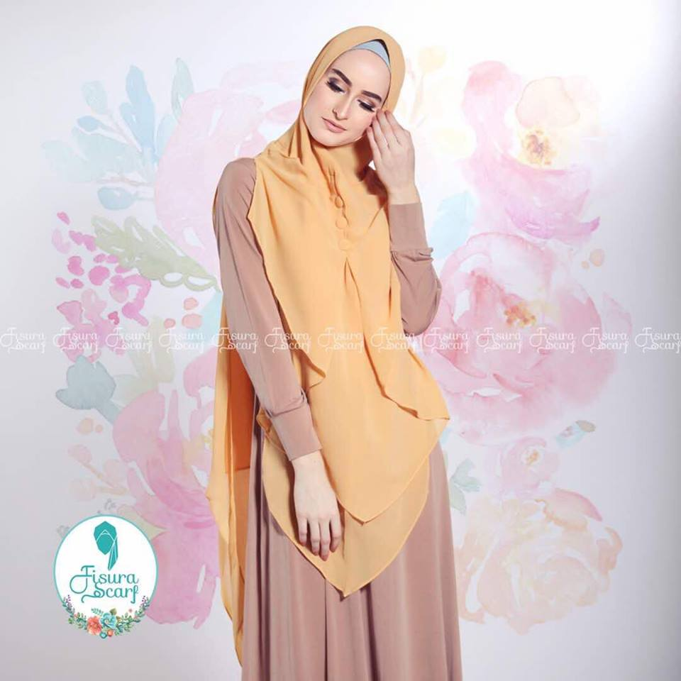 New Khimar Alona By Fisura Scarf kuning
