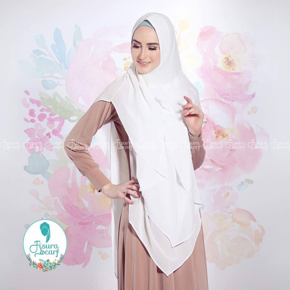 New Khimar Alona By Fisura Scarf putih