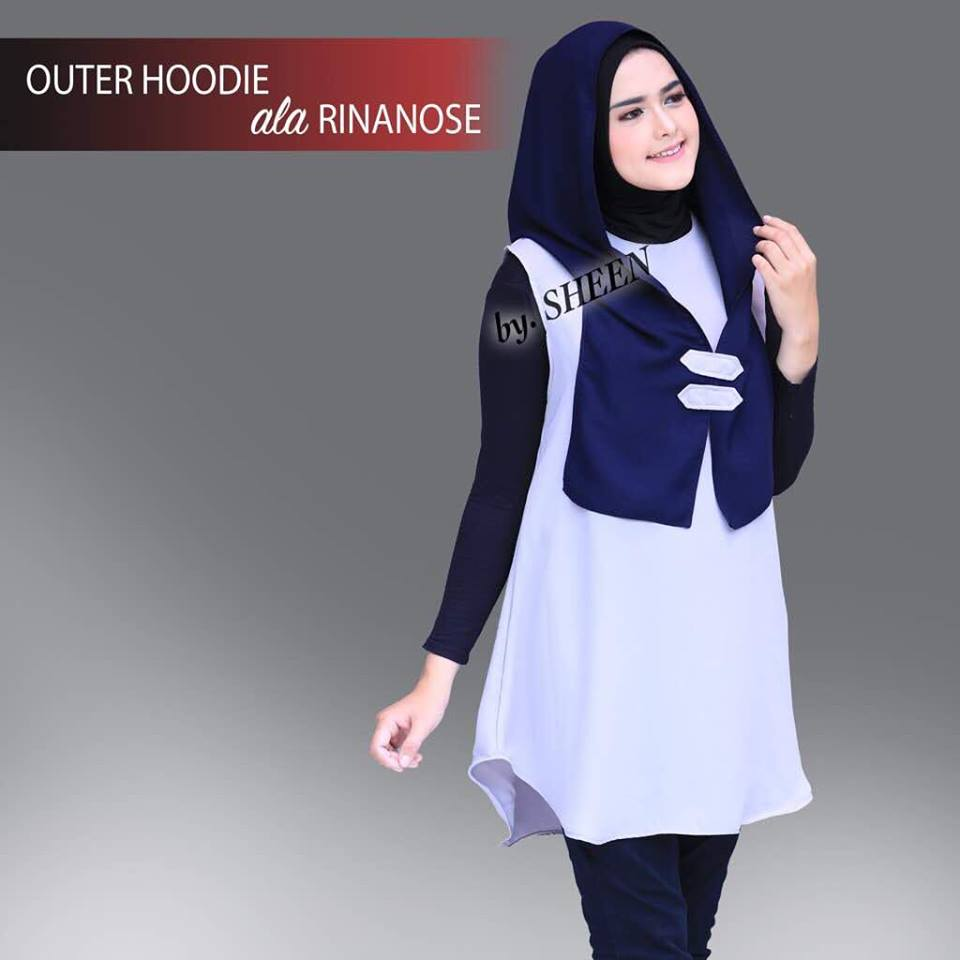 Outer Hoodie Abu Navy