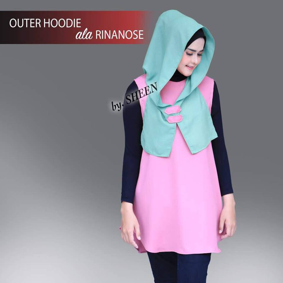 Outer Hoodie Pink Mint