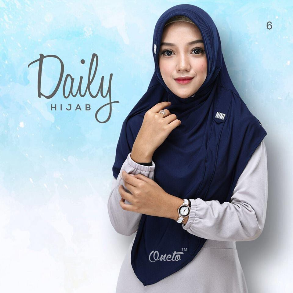 Daily Hijab by oneto navy'