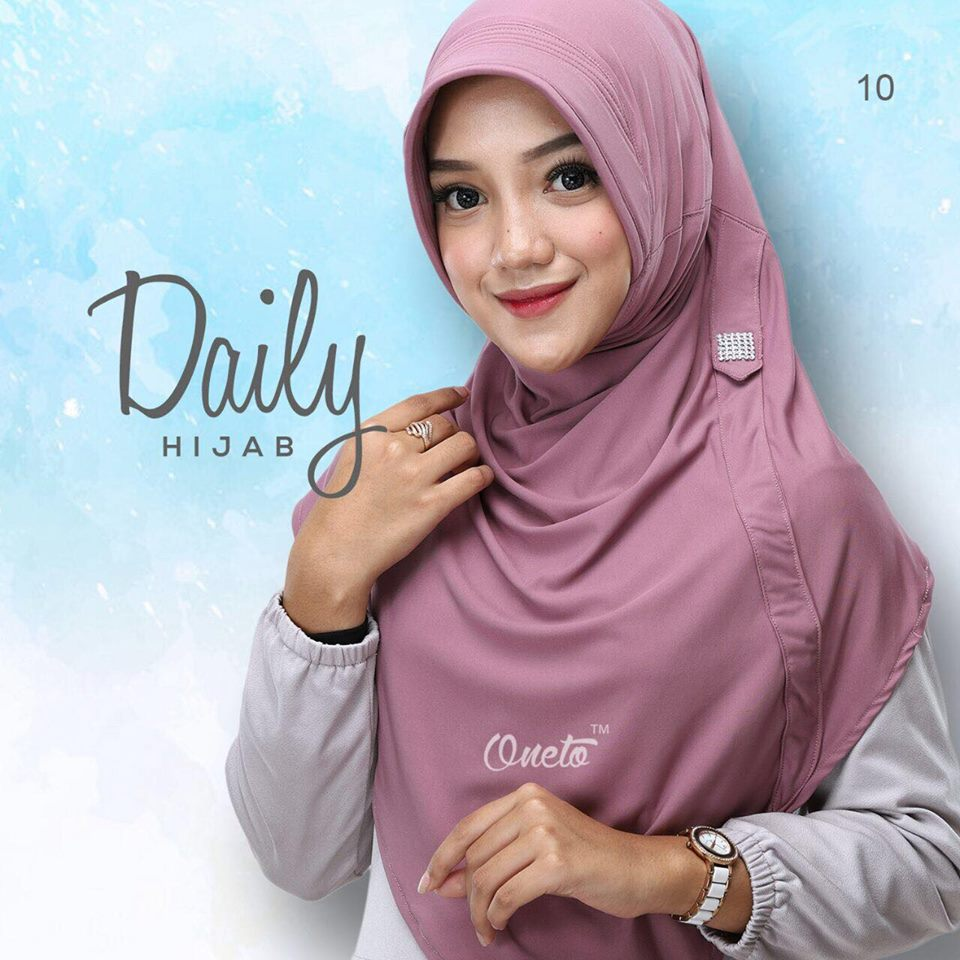 Daily Hijab dustypurple by oneto