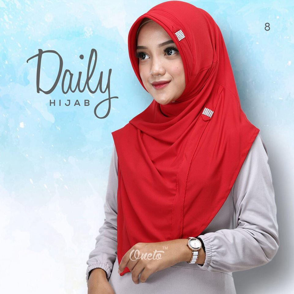 Daily hijab by oneto merah