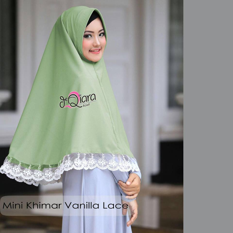Mini Khimar hijau by qiara