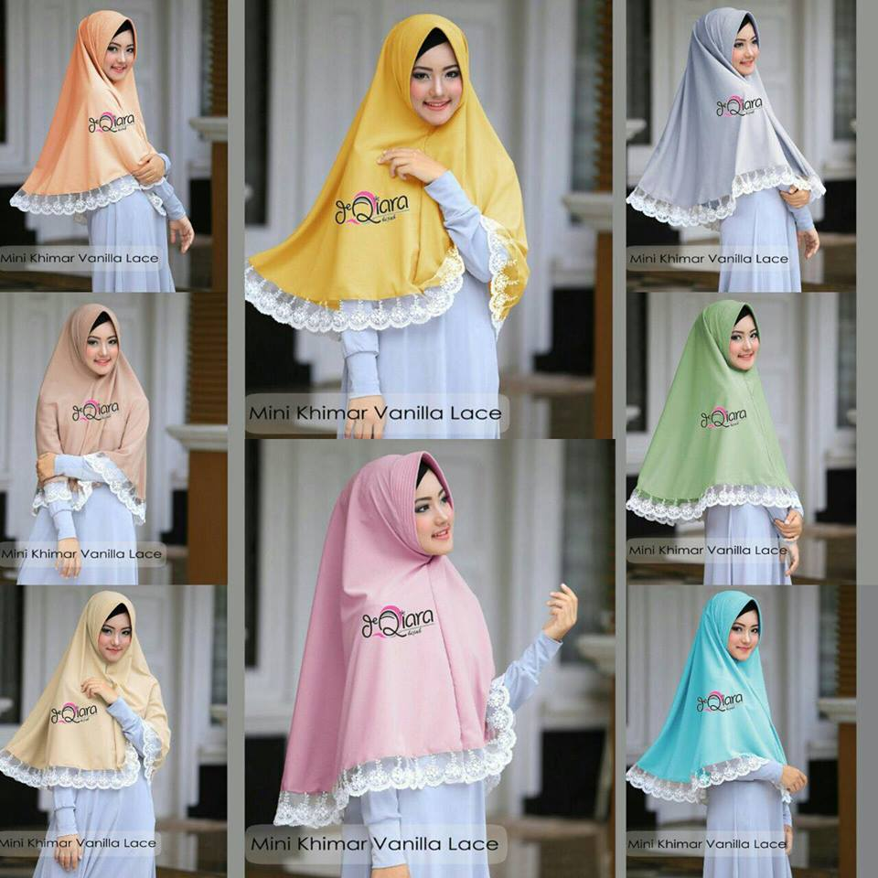 Mini Khimar warna warna by qiara