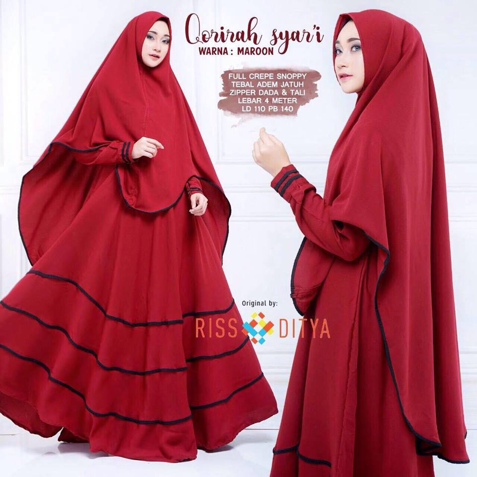 Qorirah syar'i dress - maroon