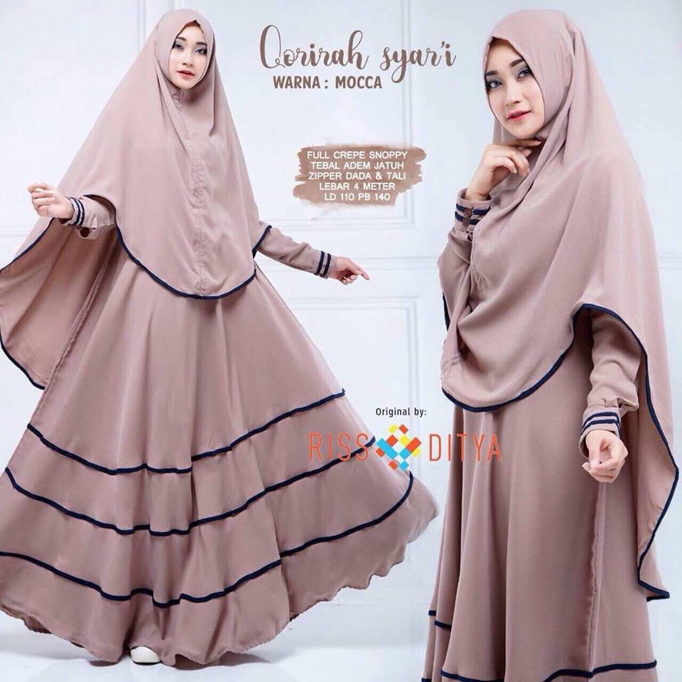 Qorirah syar'i dress - mocca