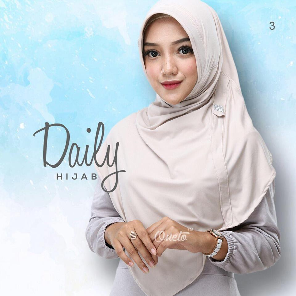 daily hijab by oneto cream