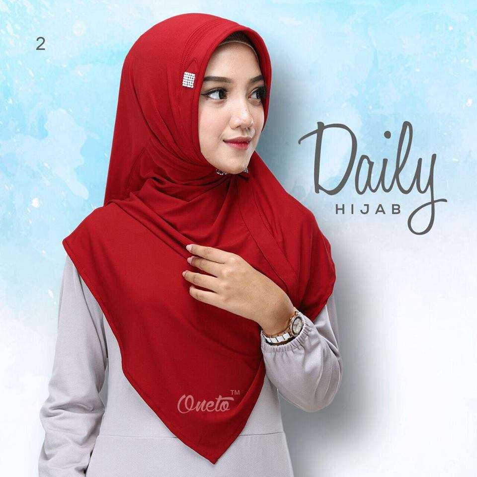 daily hijab by oneto merah2