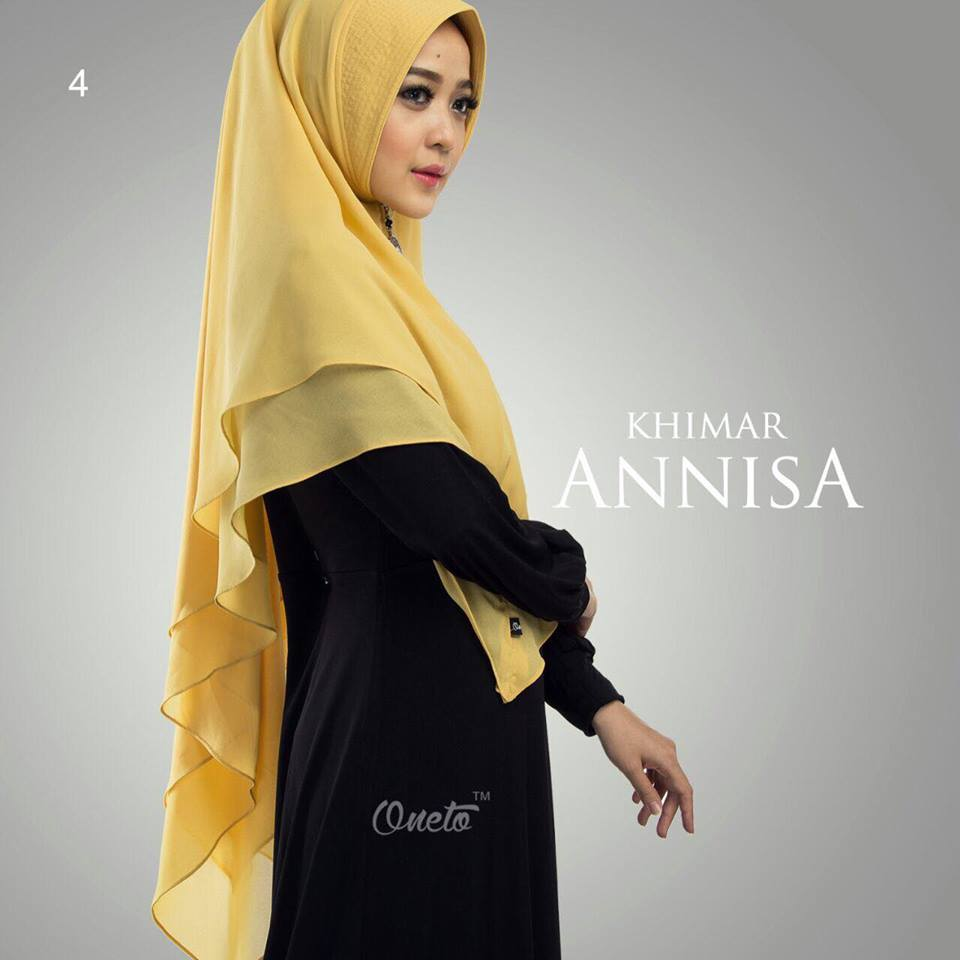 khimar anisa by oneto mustard
