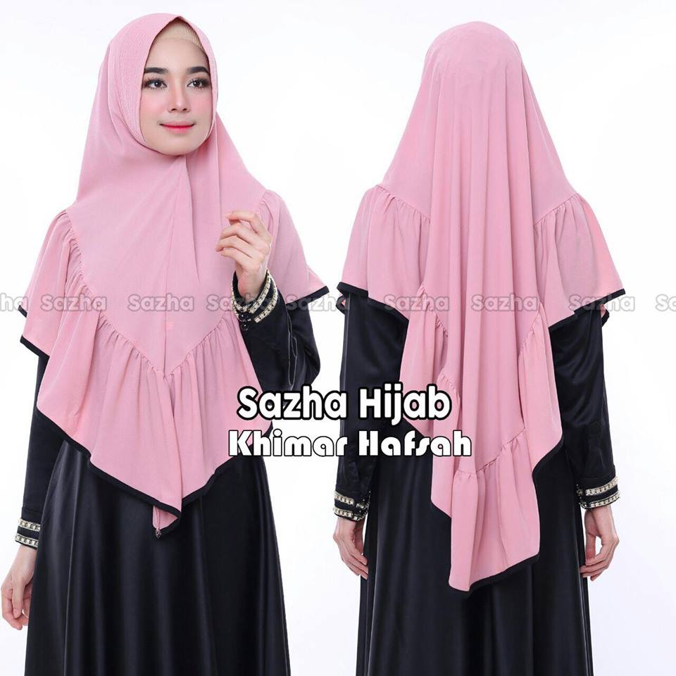 khimar hafsah by sazha hijab dusty