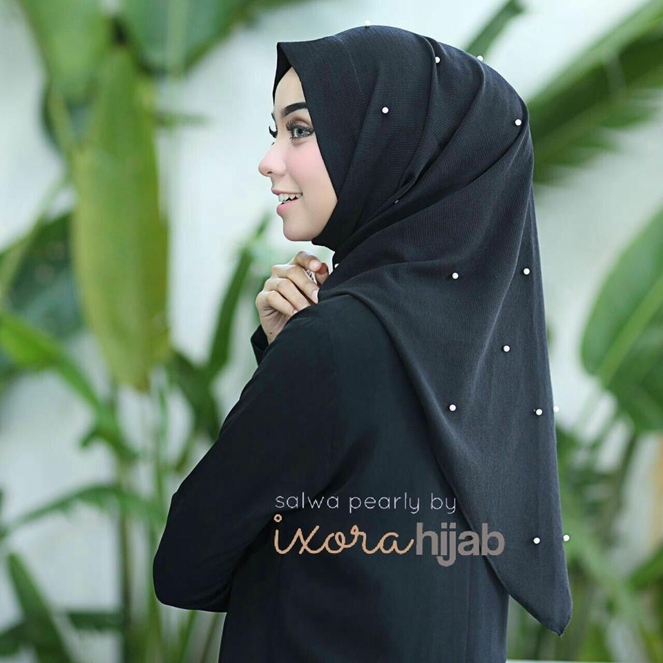 salwa pearly by ivorihijab hitam