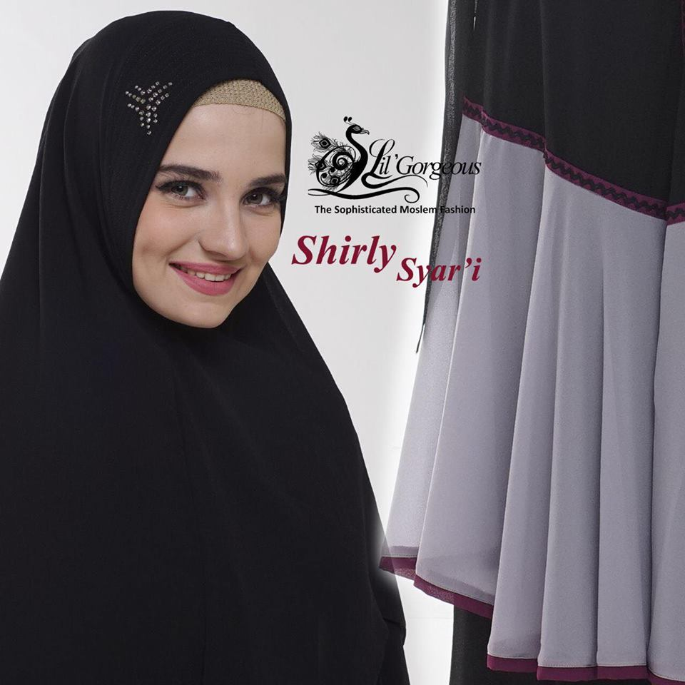 shirly syar'i by lil gorgeous  hitam detaile