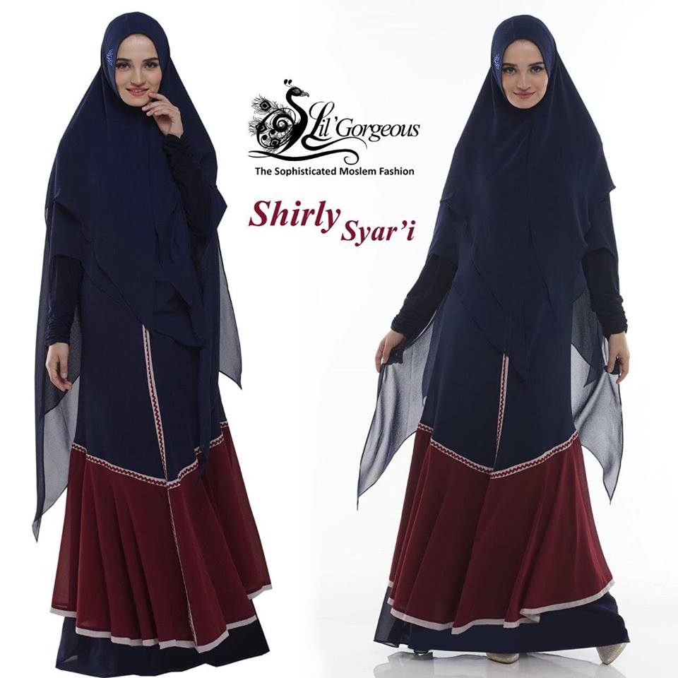 shirly syar'i by lil gorgeous  navy