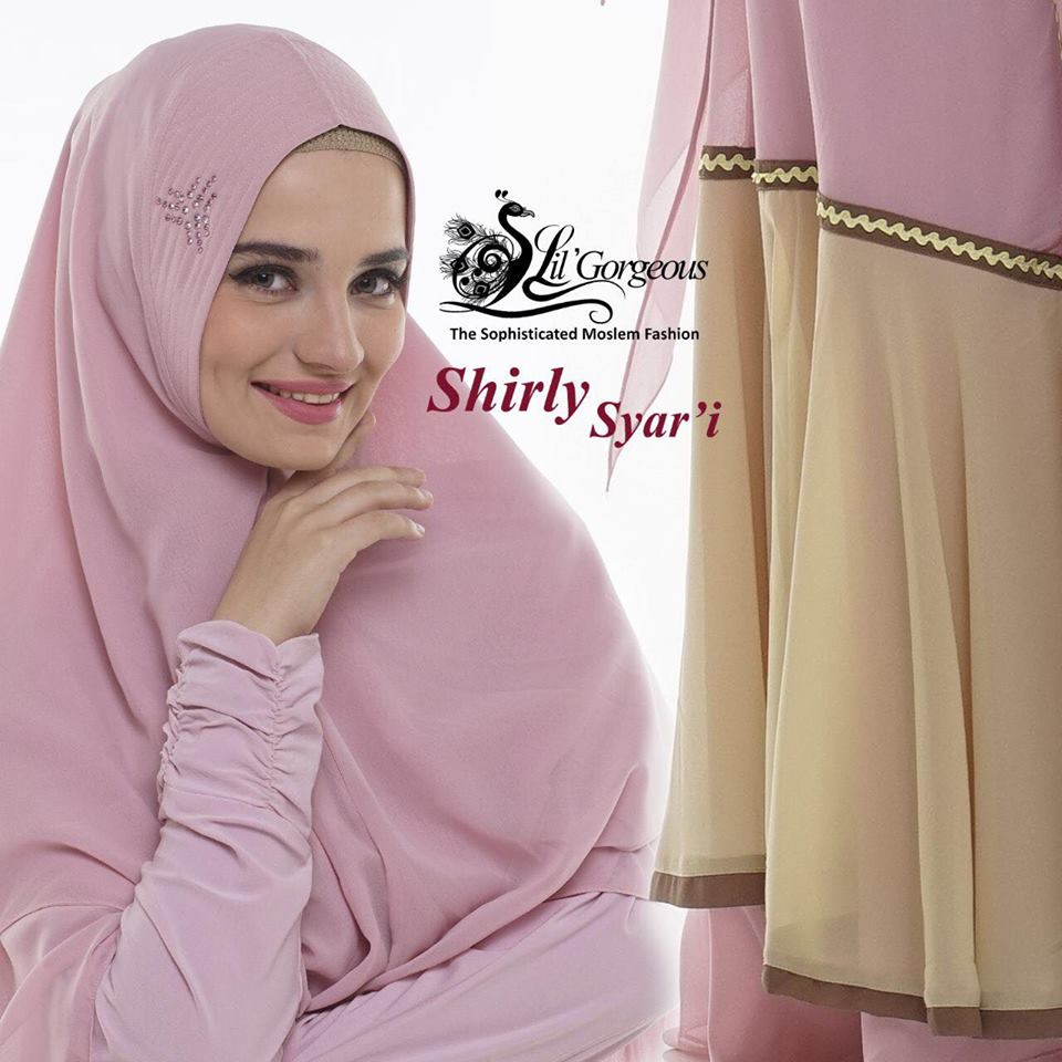 shirly syar'i by lil gorgeous  pink detailed
