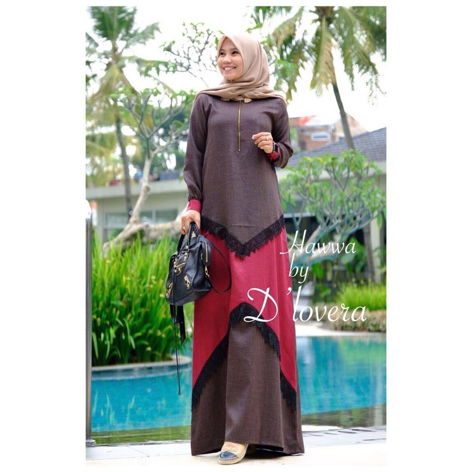 hawwa dress coklattuamerah