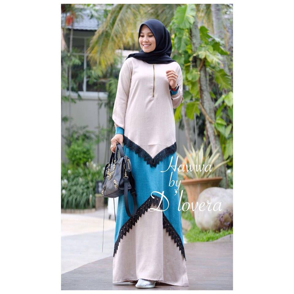 hawwa dress pinkbiru