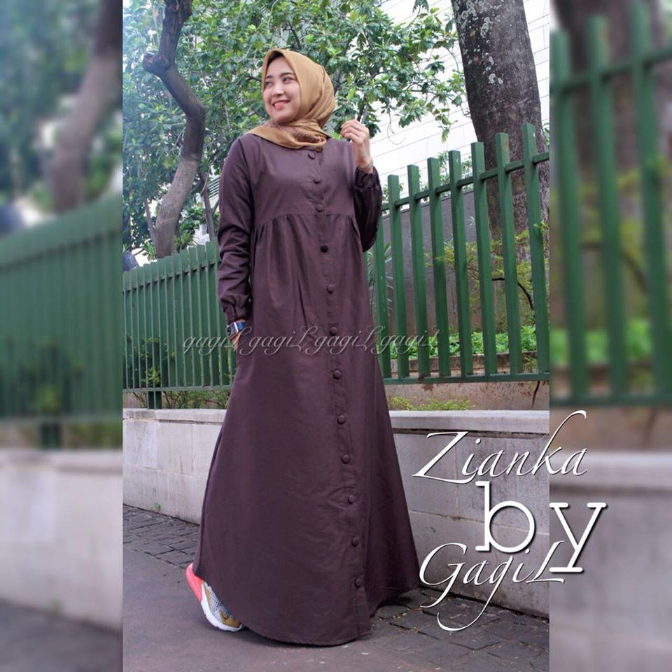 Zianka dress coklat